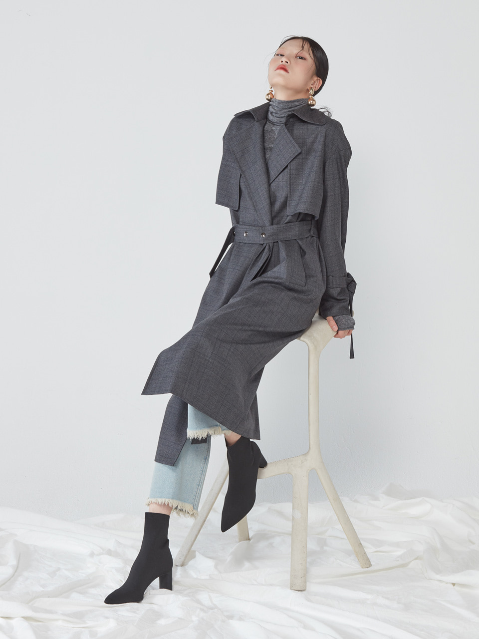 [WINTER SALE 10%] OPEN TRENCH COAT