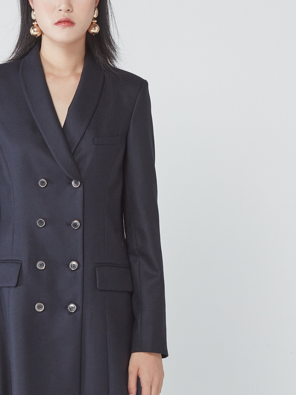 [WINTER SALE 20%] TUX JACKET DRESS _ NAVY