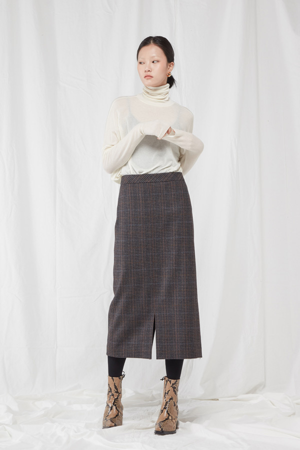 [WINTER SALE 10%]  WOOL MIDI SKIRT