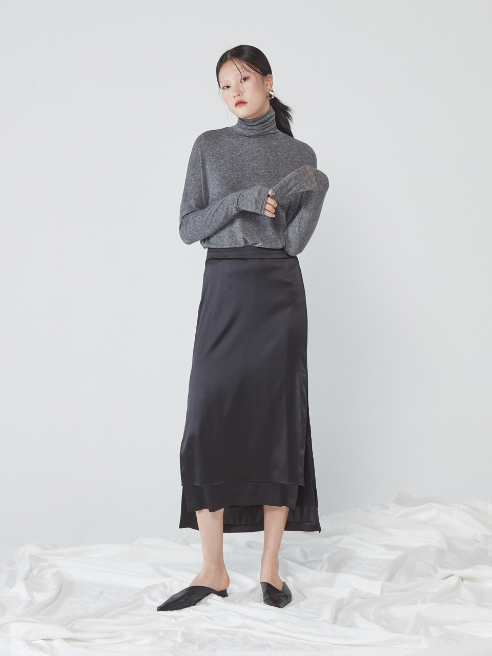 UNBALANCED LONG SKIRT