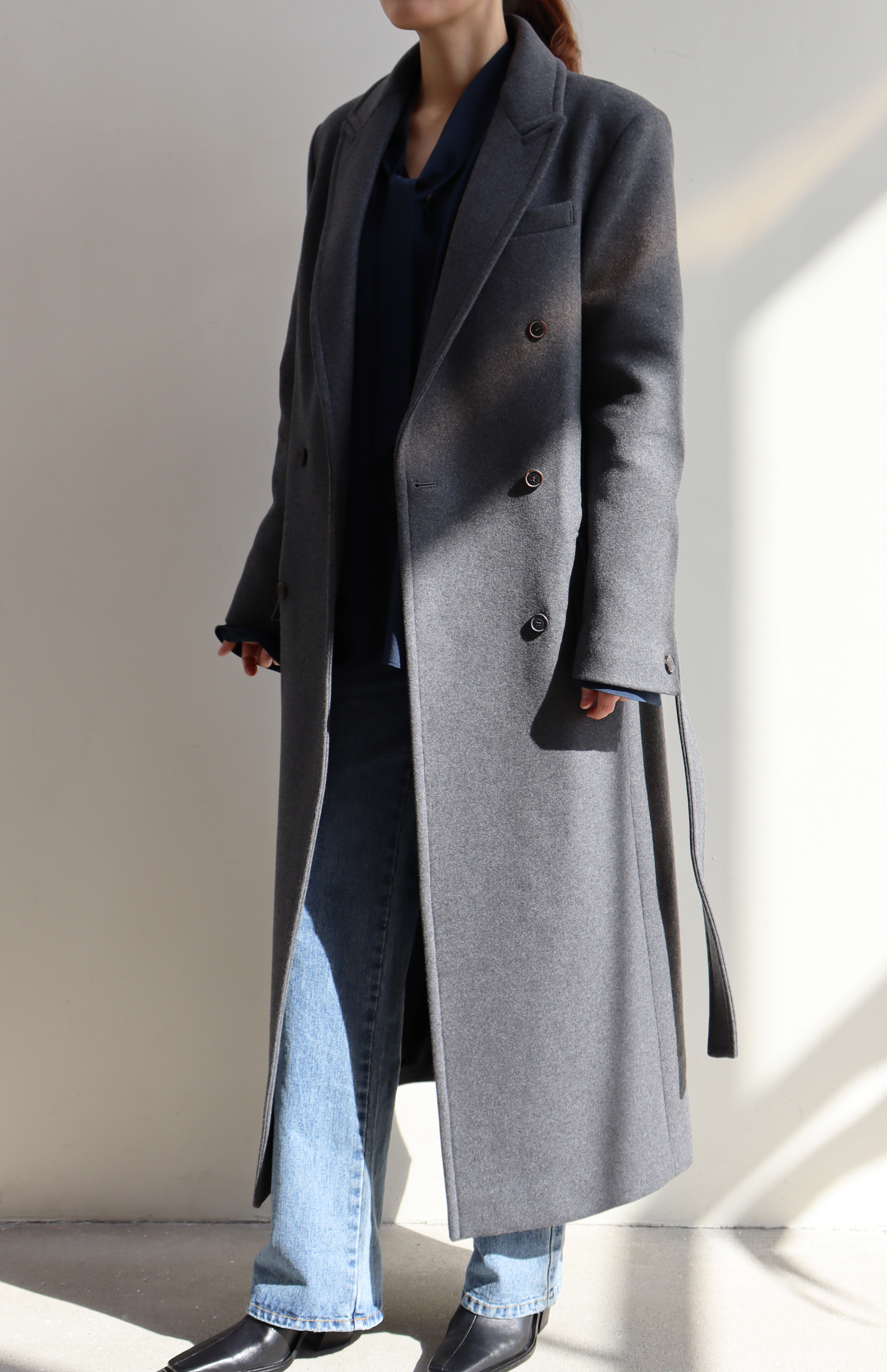 LONG DOUBLE COAT _ GREY